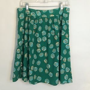 THE LIMITED | Patterned Swing Skirt with Dots  NWT